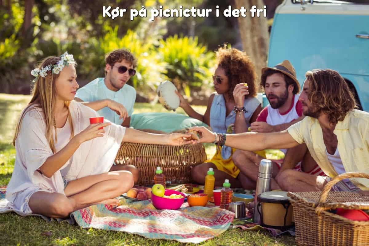 Kør på picnictur i det fri